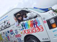 「憲武・フミヤ・ヒロミが行く!キャンピングカー合宿2」で使用されたハイエースも展示