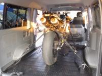 ハイエースにバイクや自転車を積載するトランポカスタム!