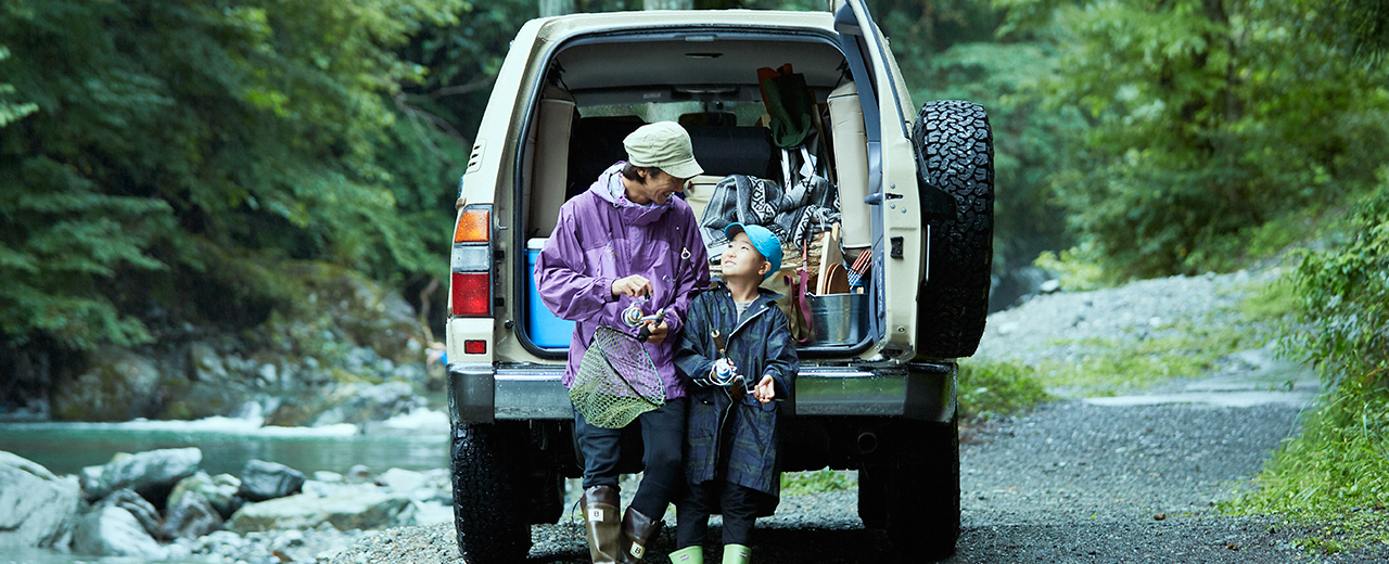 LAND CRUISER American Classic × ふたりを少年にした渓流釣り