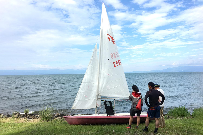 琵琶湖でのセイルトレーニング