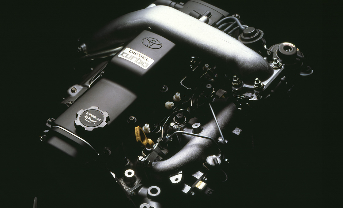 70プラド_1KZ-TEエンジン