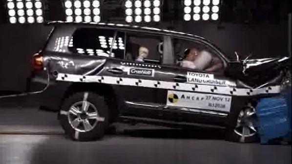 オーストラリアでのランクル200 衝突安全性試験の様子