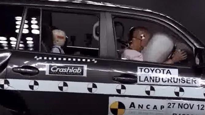 衝突時にランクル200のエアバッグがどう開くのか