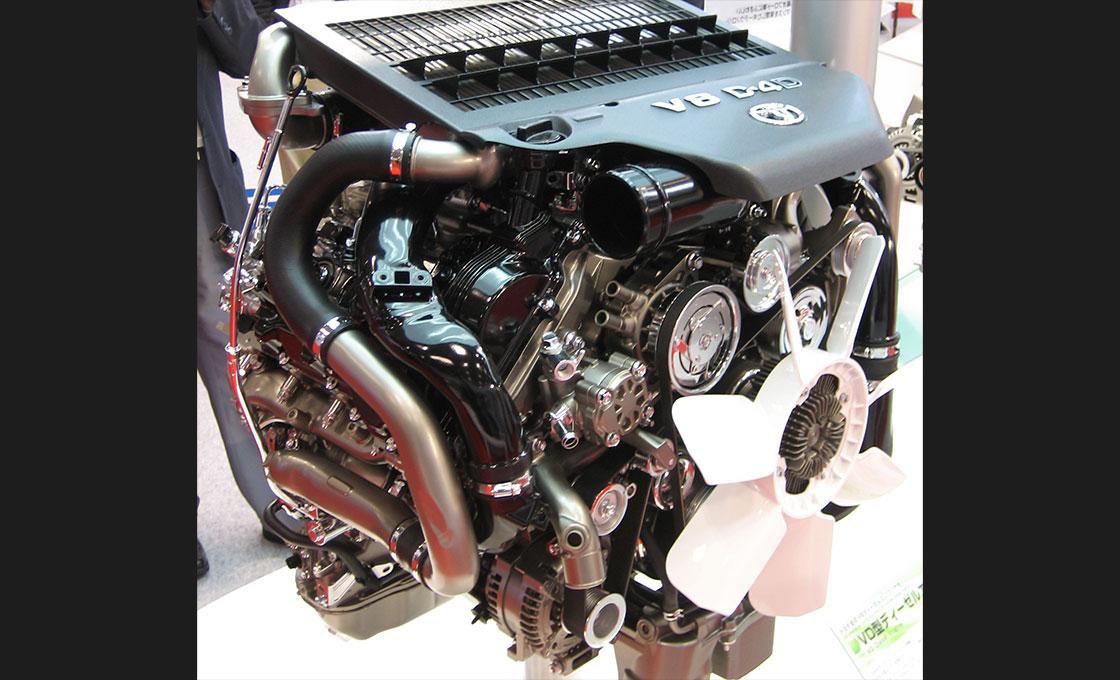 ランドクルーザーの進化したディーゼルエンジン