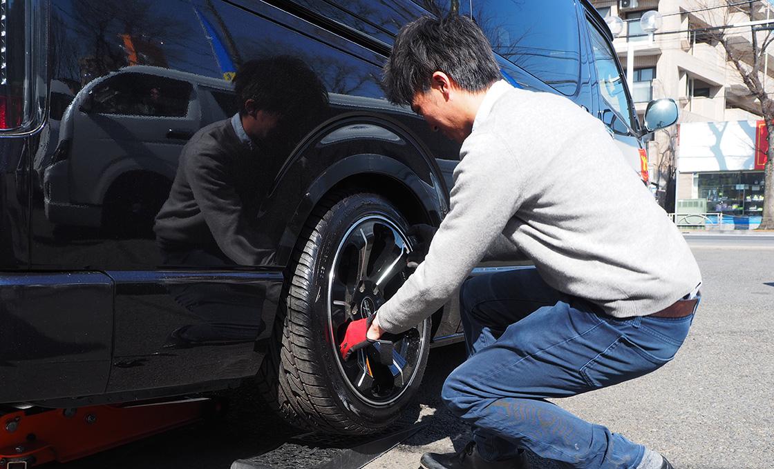 どのサイズのホイールでも履かせるタイヤの外径はほぼ同じ