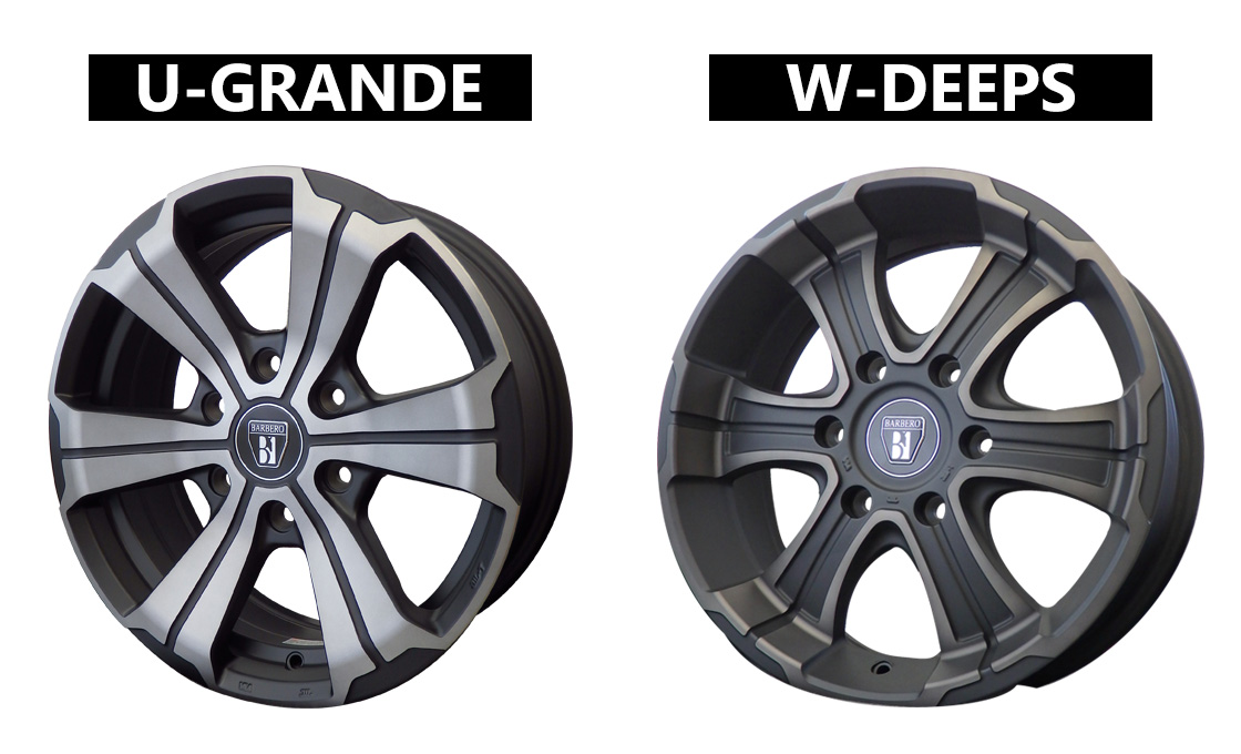 FLEX専用カラーのハイエース専用17インチホイール、U-GRANDE、W-DEEPS