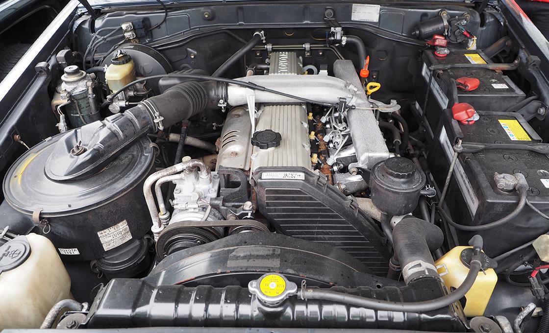 ランドクルーザーのディーゼルターボエンジン