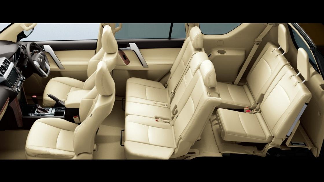 150プラドTX-Lパッケージ7人乗り内装