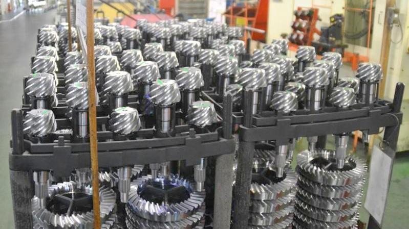 トヨタの工場で生産されるディファレンシャルギア