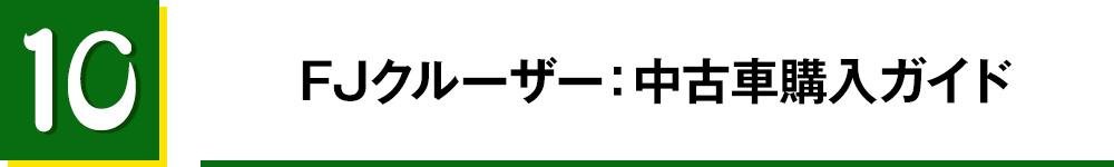 10. FJクルーザー:中古車購入ガイド