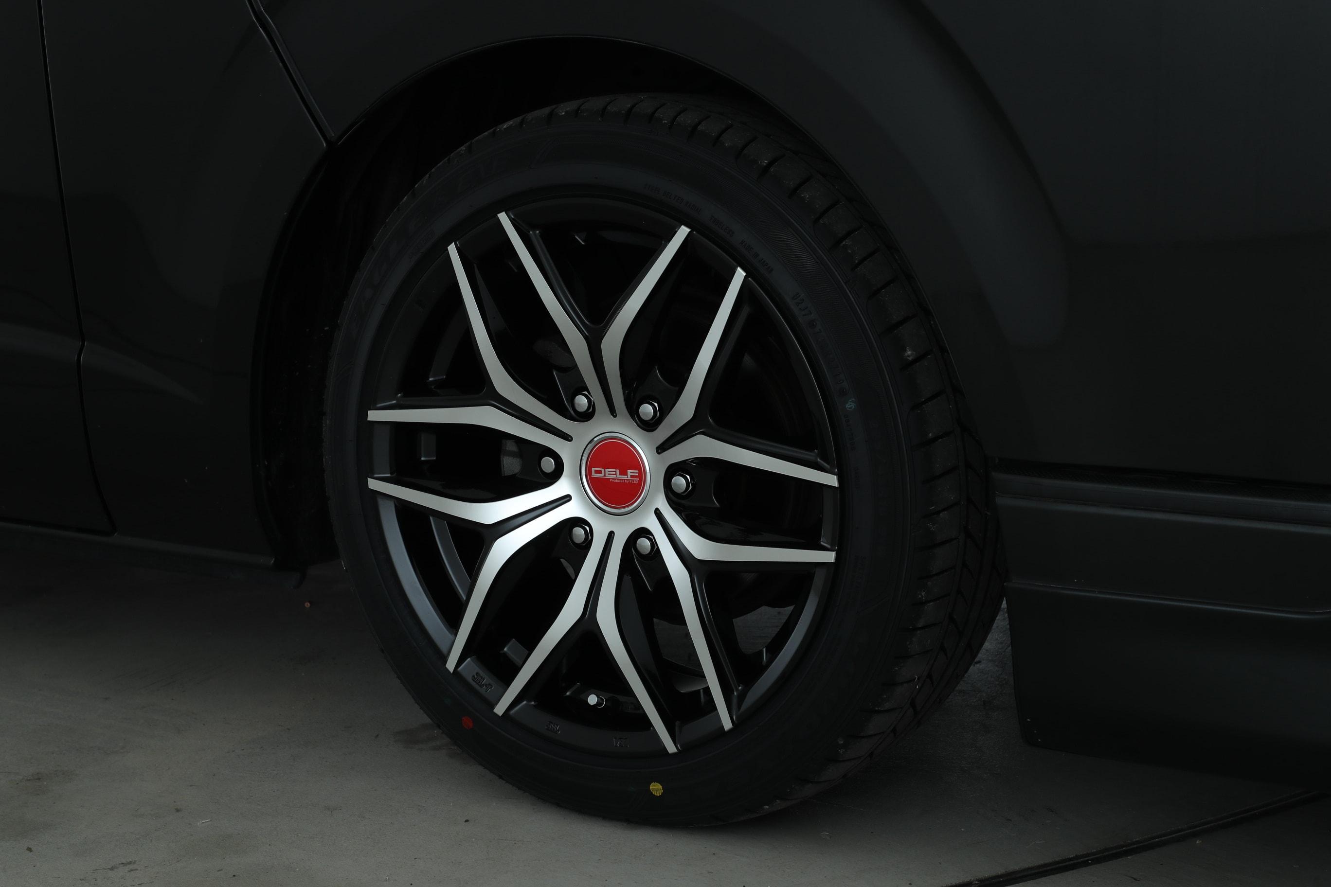 【車好きがこだわる】FLEXオリジナル ハイエース DELF01 センターキャップ