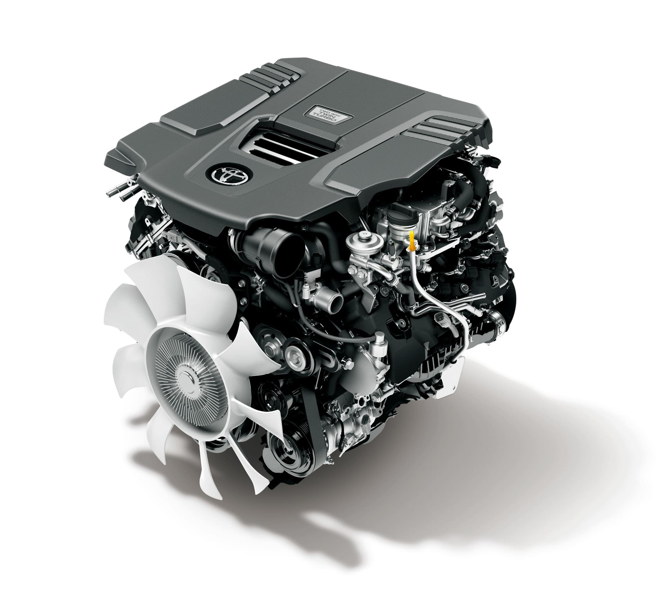 300系(海外仕様)V6 ディーゼル ツインターボエンジン