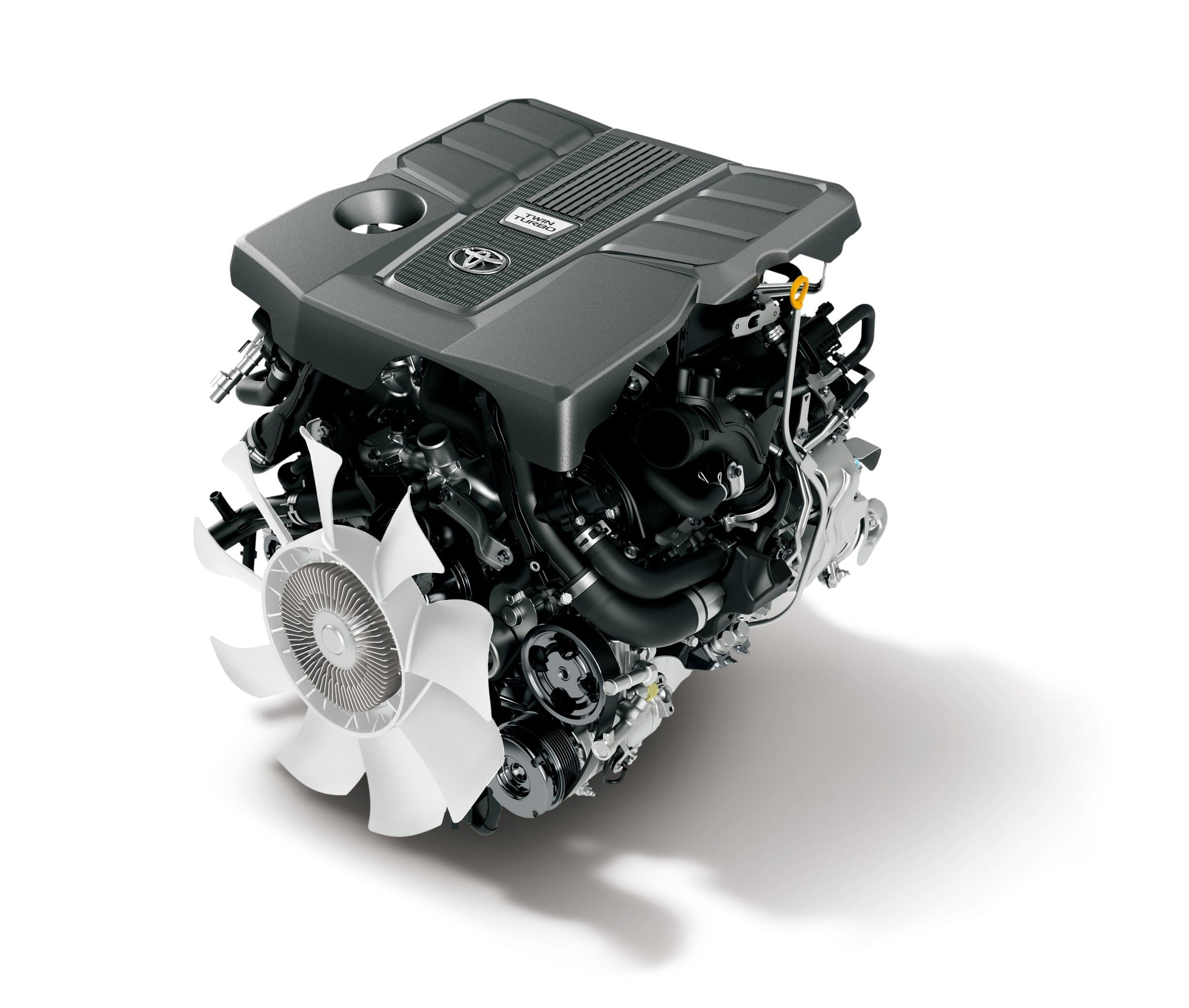 300系(海外仕様)V6 ガソリン ツインターボエンジン